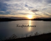 Photo Print Beautiful Sunset Over Lake 4 x 6, 5 x 7, or 8 x 10