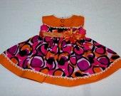 18 Inch Doll Dress Orange Black Purple