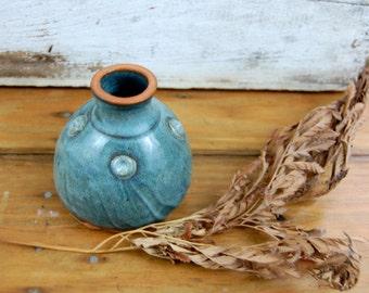 Little Slate Blue Bottle or Inkwell