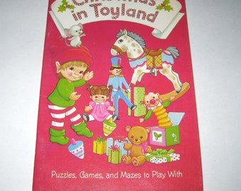 Christmas in Toyland Vintage 1980s Children's Activity Book by Hallmark Unused
