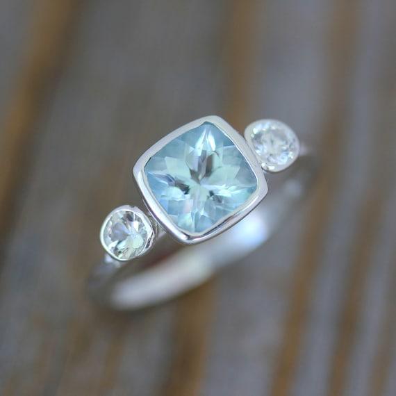 By  Semi Bezel Cushion Ring