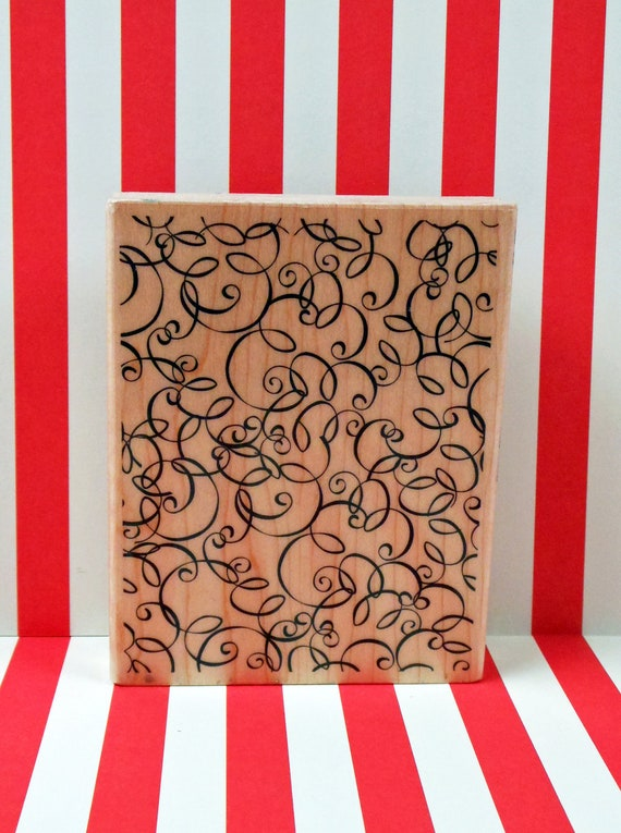 Swirly Background Rubber Stamp