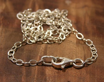 Sterling Silver Chain and Lobster Clasp 17 inch