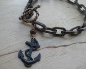 Insouciant Studios Dropping Anchor Bracelet Bronze Pearl