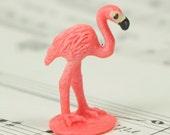 "1"" Flamingos - Set of 4 miniature flamingo figurine dollhouse diorama project craft - 234-4822"