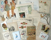 Children Themed Ephemera Pack All Vintage 28 Pieces Mixed Media Supplies