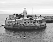 Irish Photograph Lighthouse Landscape Dun Laoghaire Black And White Dun Leary Dublin Area Urban Office Wall