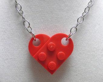Plastic Brick Heart Necklace