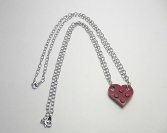 Two Halves Make a Whole Heart- Set of Necklaces