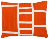 Graphic modern Lumbar Pillow - Ladders