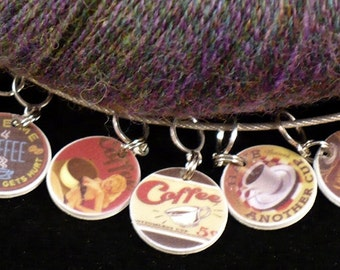 STITCHMARKERS for KNITTERS or CROCHETERS, Coffee 2