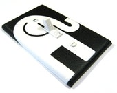 Black and White Elephant Light Switch Cover Decorative Switchplate Cover Lightswitch Home Decor