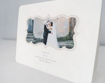 Wedding Thank You Note Cards with Photograph, wedding stationery, DIGITAL FILE