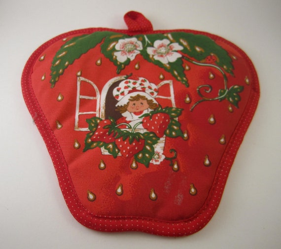 Items Similar To Vintage Pot Holder Strawberry Shortcake