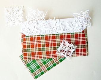 Holiday Plaid Patterned Envelopes Size - Legal / Letter