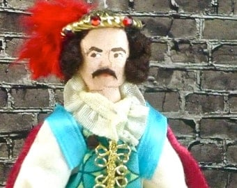 Shakespeare Doll Petruchio Taming of the Shrew Art Collectible Miniature