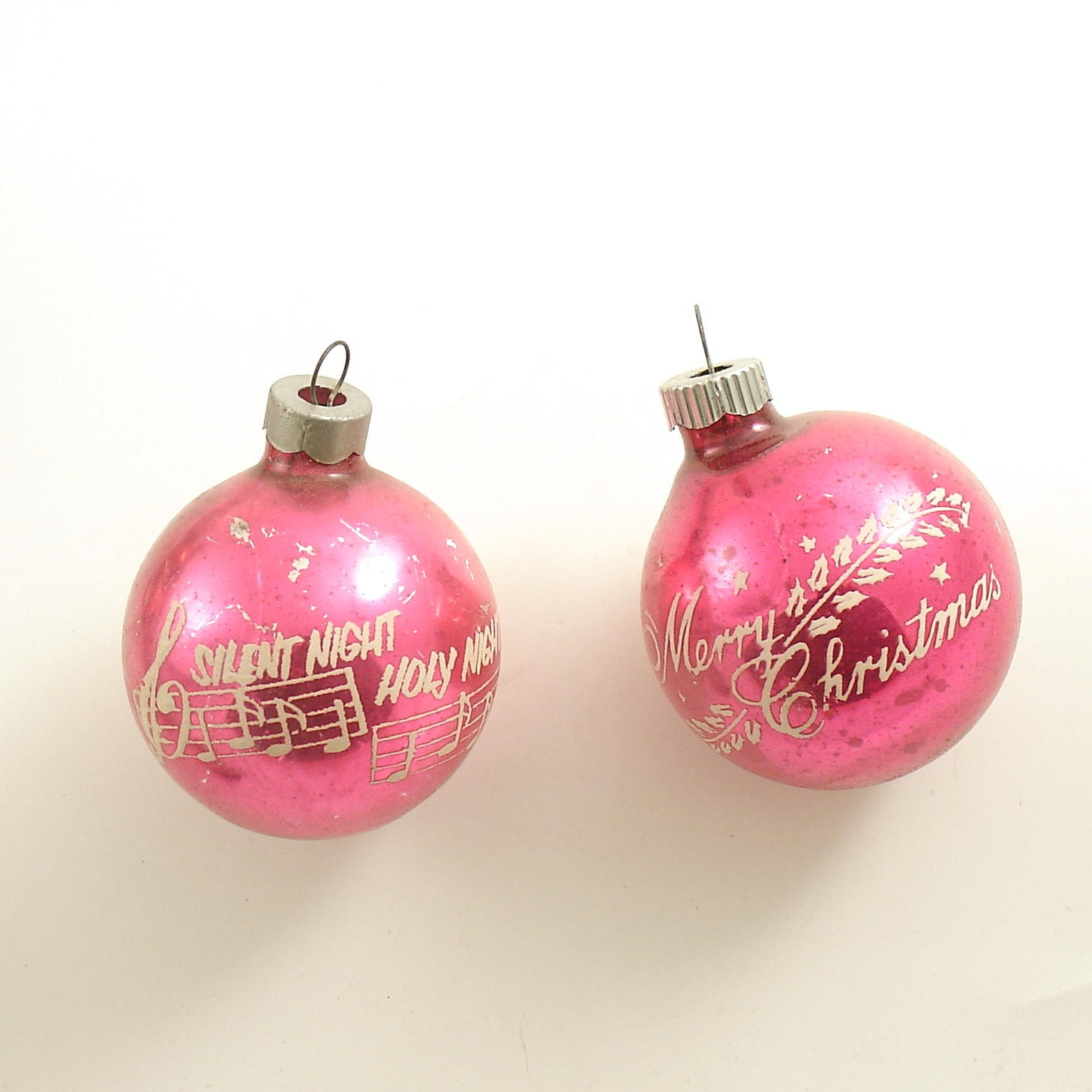 Vintage glass christmas ornaments shiny brite by efinegifts