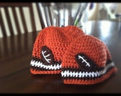 Crochet PATTERN Football Hat(s) (Customizable for Any Team)
