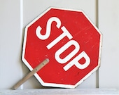 Vintage Crossing Guard Stop / Slow Sign