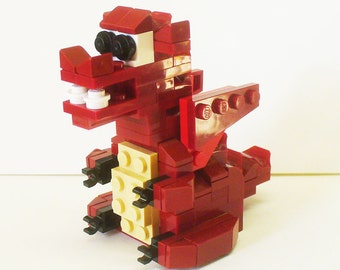 Custom Dark Red Baby Dragon