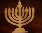 Unfinished Hanukkah Menorah Mosaic Base/Craft Shape 1/4 Inch Thick