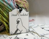 Hand Crochet Tags, Sheep Tags, For Crochet Projects, Set of 16