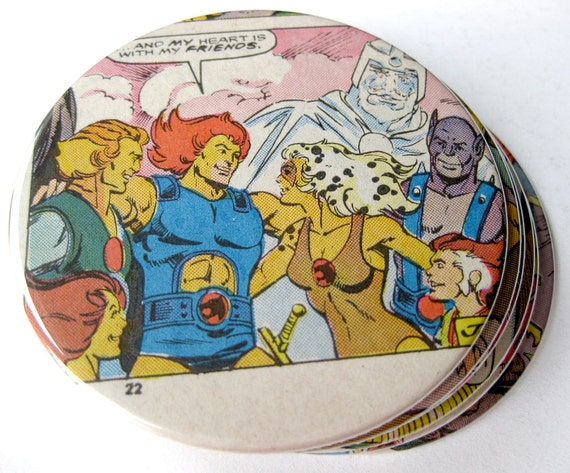 ThunderCats Comic Book Coasters // Recycled Vintage Comic