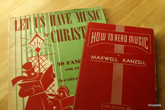 Music Book  1940s and Sheet Music Christmas