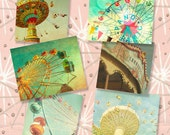 Carnival photography, circus art, print collection, county fair, fine art photography, nursery wall art, new baby, 8x10, 8x8, wall decor