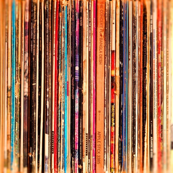 Vintage rock and roll records