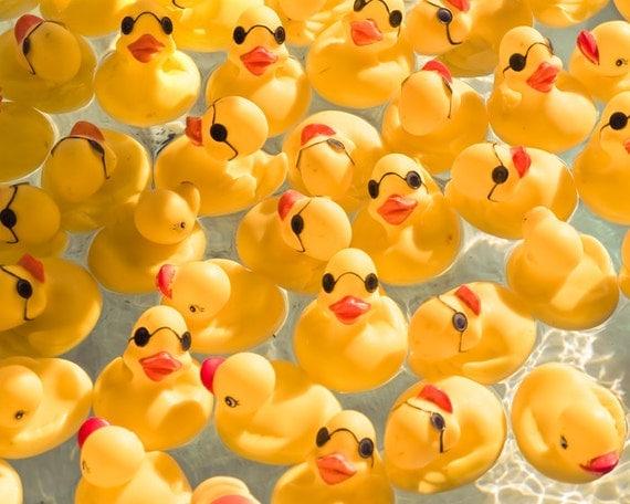 Nursery art, nursery decor, rubber duckie, yellow ducky, baby, carnival photo, vintage, sunglasses, red lips, whimsy