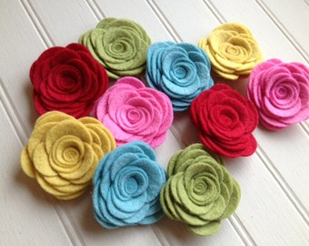 Wool Felt Flowers - Large Posies - Retro Christmas Collection (Not just for Christmas) - The Original Wool Felt Posies