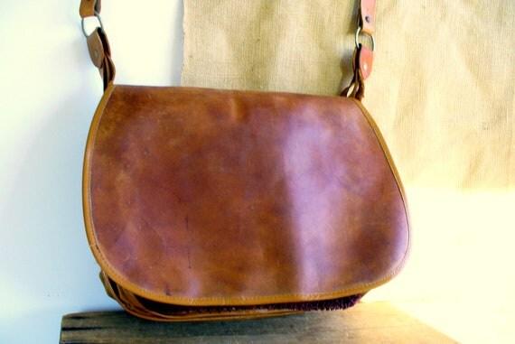Vintage Messenger Bag / Leather Fly Fishing Bag Men / Laptop Bag Case / Backpack for Him, Purse