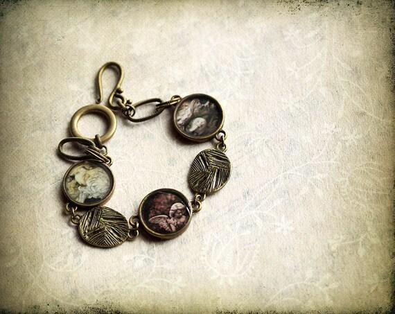 Halloween jewelry, angel bracelet, Photo Jewelry, original photography