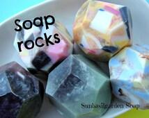 Mens Gift. SOAP ROCKS, Mens. Boyfriend Gift. Dad Gift. Rock Climbing, One of a Kind Bar Soap, Gem Soap, Stocking Stuffers, Teen Boy Gift