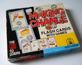 Vintage Flash Cards • Making Change Flash Cards • 1970's Educational Cards