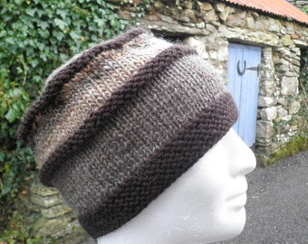 KNITTING PATTERN/VERMONT Mans Hat Noro Wool/Intermediate Level/ Knit Straight