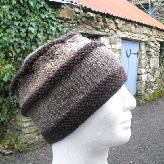 KNITTING PATTERN/VERMONT Mans Hat Noro Wool/Intermediate Level/ Knit Straight