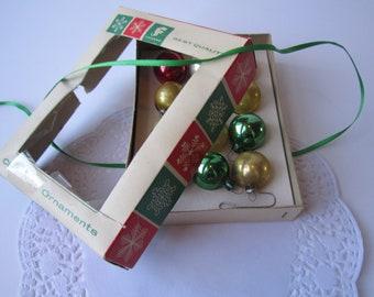 Vintage Franke Christmas Ornaments Miniature Glass One Dozen