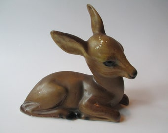 Sweet Light Brown Vintage Deer Figurine