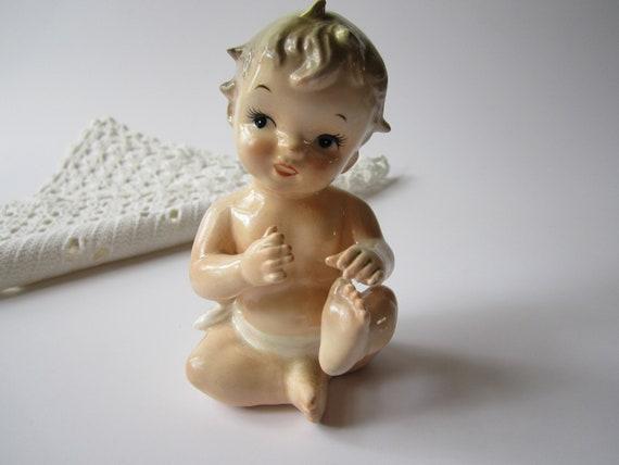 Sweet Vintage Napco Piano Baby Figurine
