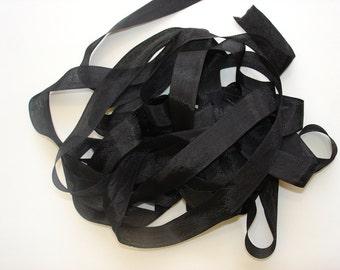 Vintage Black Seam Binding
