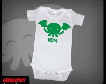 Cthulhu Nom Baby Onesie Lovecraft Humor