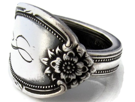 Spoon Ring Size 10 Remembrance with S Monogram