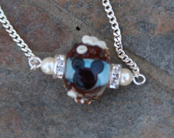 Ocean Sea Cruise Disney Inspired Mickey Mouse Style DeSIGNeR Slider Necklace Beach Summer Sand Shells Castaway Cave Vacation Wedding