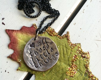 Necklace Hand Hammered Dime Choose YOUR words