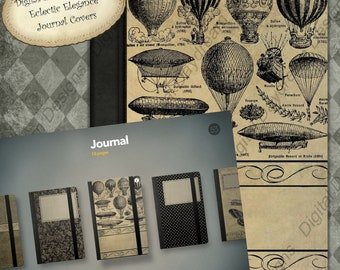 Instant Download iPad Notebook Covers for use in Journal apps - Eclectic Elegance Digital Printable