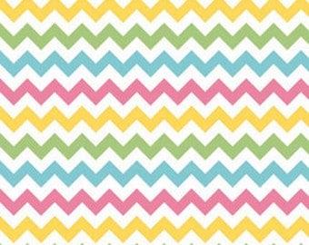 Riley Blake Medium Chevron Girl Fabric, 1 yard
