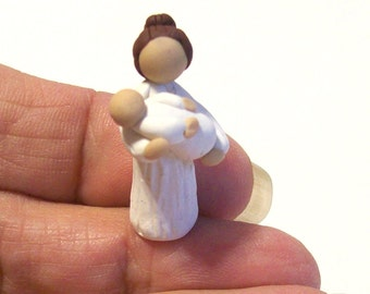 Mother and Child Handmade One of a kind Hand Sculpted Miniature Mother Figurine Mothers Day Gift for Mom