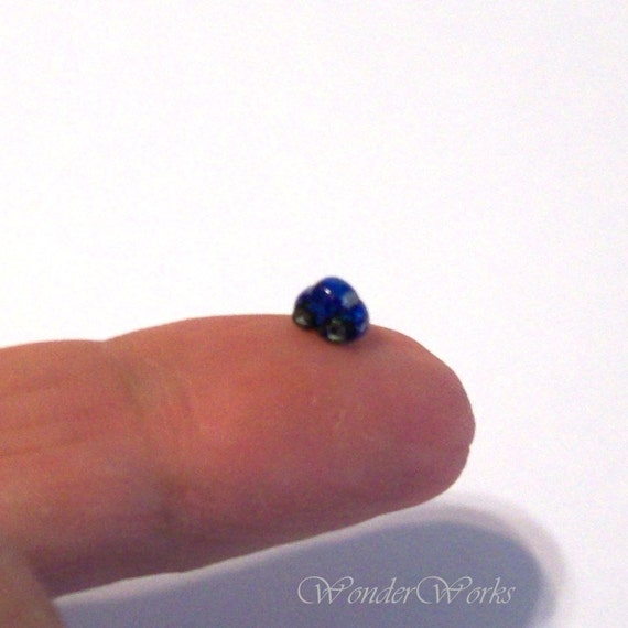 Metallic Blue Bug Micro Miniature Collectible Car  Very Teeny Tiny